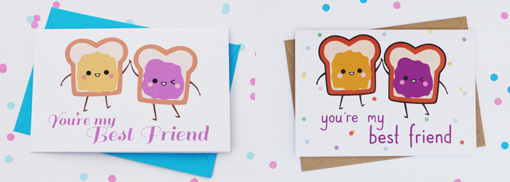 You're my best friend cute card