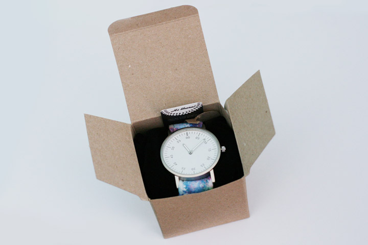 Buckle and Cog Watch Packaging